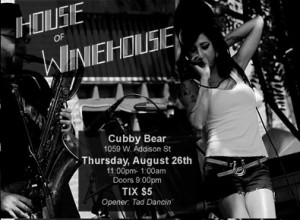 Amy winehouse, music, chicago, cubby bear, tribute band